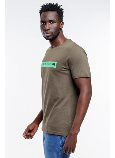 Slazenger Slazenger BATTLE Erkek T-Shirt Pudra Haki